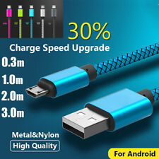 1-3M Micro USB Cable Fast Charger Charging Fast Data Sync Android Phone Tablet