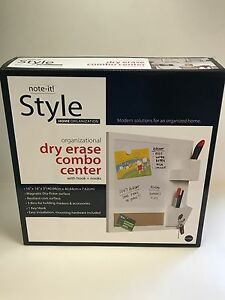 """Bi-silque Dry Erase Combo Center with Hooks and Nooks, 16"""" x 16"""" x 3"""" White"""
