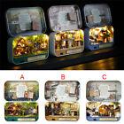Miniature Doll House Mini Wooden Dollhouse w/LED Lights Furniture DIY Kit Gifts