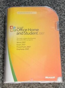 Microsoft Office 2007 Home and Student Word Excel PowerPoint BOXED DVD