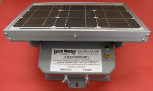 NEW Fence Master Electric Solar 12v Fence Charger, Energizer, Fencer