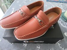 NIB Akademiks Tom Buckle Men's Casual Loafer Shoes in Tan ~ Very Comfortable!!