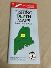 VINTAGE 1989 Maine Lakes & Ponds Fishing Depth Maps Piscataquis County Vol. 13