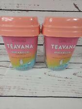 2 Teavana Beach Bellini Flavored Herbal Tea 12 Sachets Hot/ Cold Pineapple Mango