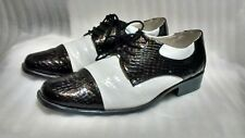 Funtasma Black And White Gangester Shoes Allcapone size S 8 to 9 see measurement