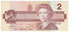 (ONE RANDOM) 1986 Canada $2 Dollar Bill - Banknote - Paper Money