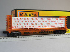 MTH RAILKING LONG ISLAND BULKHEAD FLATCAR LUMBER O GAUGE train freight 30-76646