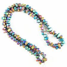 Rainbow Frosted Hematite Freeform Pendant Loose Bead 15.5 inch 5-10mm 381TS