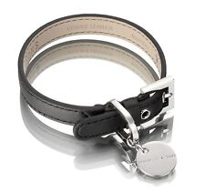 Hennessy & Sons Water Resistant Nottingham Dog Collar Black - Small 18 - 25cm