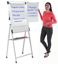 Wonderwall Proffesional Mobile Magnetic Flipchart Easel - Mobile Whiteboard