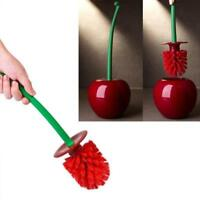 Lovely Cherry-Shape Bathroom Cleaning Toliet Lavatory Brush Holder Standing Set