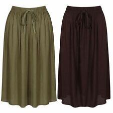 No Pattern Viscose Skirts Plus Size for Women