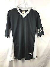 Kajumulo Midnight Black White Short Sleeve Soccer Jersey Medium Sports