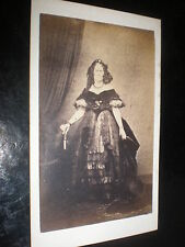 Cdv old photograph writer and poet Agnes Strickland c1860s