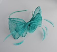 Blue Looped Sinamay Aliceband Fascinator Wedding Races Ascot Prom