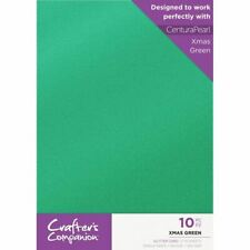 Crafter's Companion Centura Glitter 10 Sheet A4 Craft Card Pack - Xmas Green