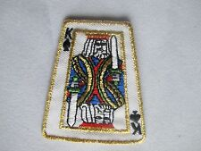 #3623 King Black Spade Poker Card Embroidery Iron On Applique Patch