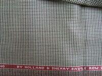 2.7 yd HOLLAND SHERRY Luxury Worsted WOOL FABRIC 9 oz JACKETING Houndstooth BTP