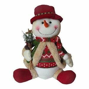 Christmas Snowman Shelf Sitter Decoration Ornament Fabric Figurine 30 cm BNWT
