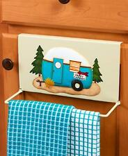 Camper RV Over Cabinet Towel Bar Organization Wall Storage Space Saver Camping A