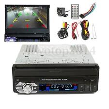 Single DIN 7'' HD Touch Screen MP3 MP5 Bluetooth Player Radio Stereo + Camera