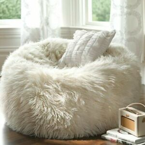 Micro suede Fabric foam Giant Bean Bag Cover Sofa Comfortable Soft Fluffy Wool