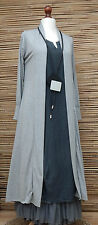LAGENLOOK AMAZING BOHO  LONG CARDIGAN/COAT*LIGHT GREY MARL*SIZE M/L BUST 36-38""