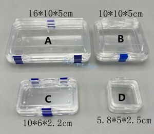 Denture Hinged Display Box Storage Jewelry Chip Boxes False Teeth Membrane Case
