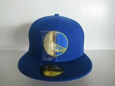 New Era Golden State Warriors 59Fifty 5950 NBA Split Logo Blue Gold Fitted Hat