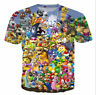 Women/Men's Super Mario Party Drinking Game 3D Print Casual T-Shirt plus sizeT60