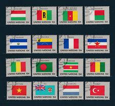 NATION UNIES  New York 1ère série des Drapeaux de 1980  oblitéré   hg