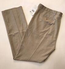 Russell Athletics Khaki Flat Front Dress Pant Not Hemmed Size 44 NWT