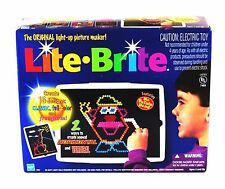 LITE BRIGHT Vintage Original with BOX Pegs And refill Sheets  EUC