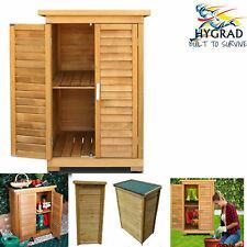 Medium Portable Wooden Outdoor Garden Lawn Cabinet Shed Shelf Cupboard Storage