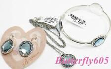 Brighton TRINITY AURA Blue Bangle Bracelet Earrings Necklace Set NWT Pouch $196