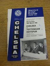 10/03/1965 Chelsea v Tottenham Hotspur  (Score Noted On Cover & Inside). Unless