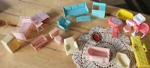 Vintage 1963 FURNITURE Multiple products Inc Dollhouse Furniture &  more 22 item