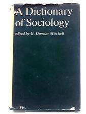 Dictionary of Sociology G, Duncan Mitchell 1968 Book 22382