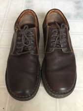 BORN Pebbled Leather Oxfords MRG5 Casual Shoes Brown 9 1/2  M/W  Men's 43 / 44