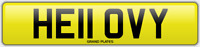 VY INITIALS number plate Hello CHERISHED REGISTRATION NO ADDED FEES HE11 OVY REG
