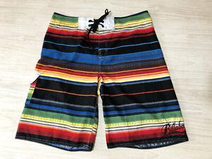 BILLABONG MENS MULTI STRIPE BOARDSHORT 38 swim shorts LOGO multicolour QUICK DRY