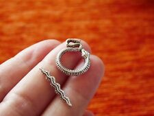 4 Bracelet Toggle Clasp for Jewelry Making Snake Charm Necklace Connector Silver