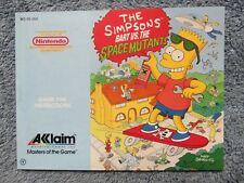 "Exc ""Simpsons Bart vs Space Mutants"" manual - no game . Nes Nintendo"