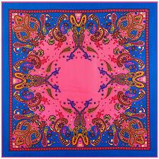 lady's  Bohemia  100% mulberry silk diagonal 90cm*90cm square scarf #80