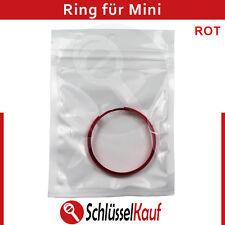 Mini Schlüssel Ring Rot Fernbedienung Gehäuse Autoschlüssel Cooper One Clubman