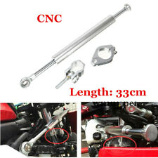 CNC Aluminum 330mm Universal Motorcycle Steering Damper Stabilizer Parts Silver
