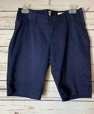 Gap Blue Inset Panel Chino Bermuda Style Maternity Shorts--NWOT--Sz 2
