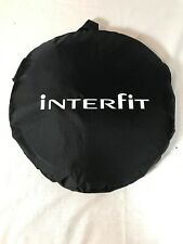 """Interfit 42"""" Folding Light Disk Reflector Silver/White with case"""