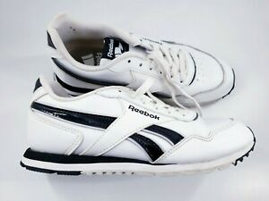 Reebok size 3 (34.5) white faux leather lace up trainers