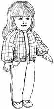 """Jeans, Jacket & T shirt Sewing Pattern Fits 18"""" American Girl Doll #46"""